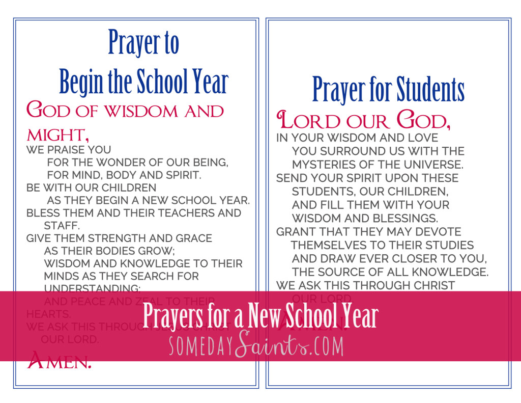 Prayers for a New School Year